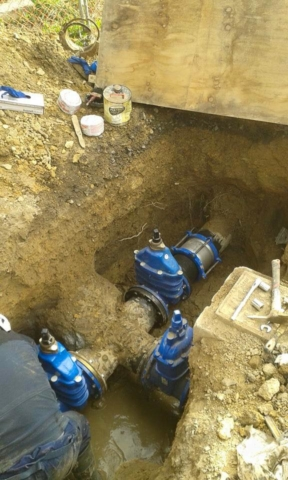 Commercial plumbing drainage