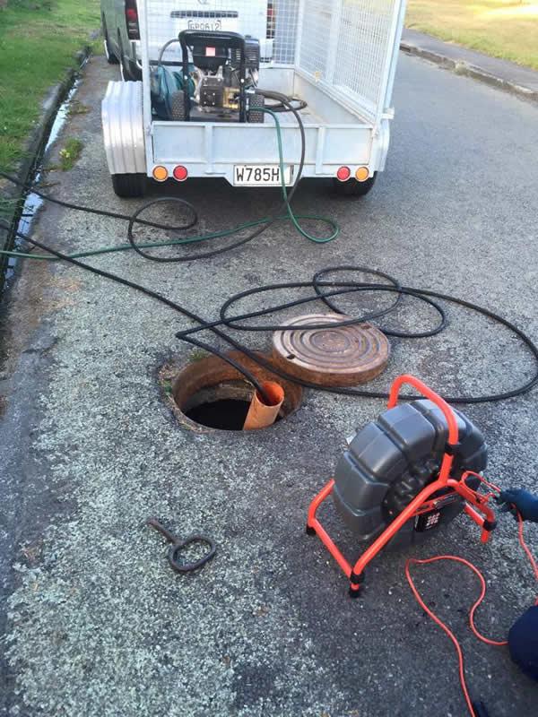 Commercial plumbing underground
