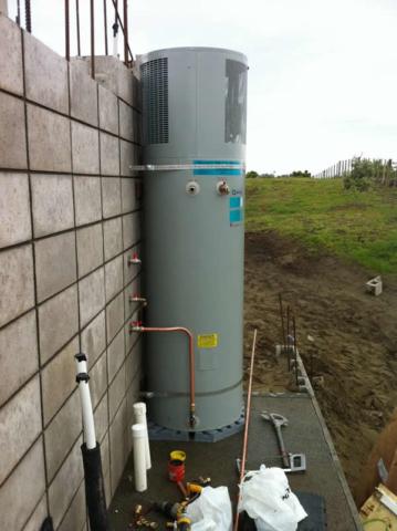 outdoor heat pump hot water cylinder